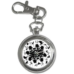 Black roses and ravens  Key Chain Watches