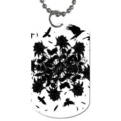 Black roses and ravens  Dog Tag (One Side)