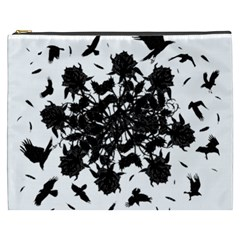 Black roses and ravens  Cosmetic Bag (XXXL)
