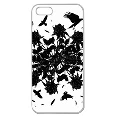 Black roses and ravens  Apple Seamless iPhone 5 Case (Clear)