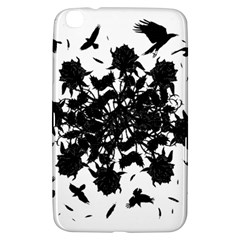 Black Roses And Ravens  Samsung Galaxy Tab 3 (8 ) T3100 Hardshell Case