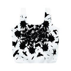 Black roses and ravens  Full Print Recycle Bags (M)