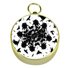 Black roses and ravens  Gold Compasses