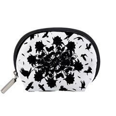 Black roses and ravens  Accessory Pouches (Small)