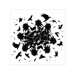 Black roses and ravens  Small Satin Scarf (Square)