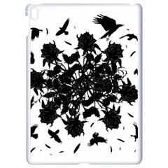 Black Roses And Ravens  Apple Ipad Pro 9 7   White Seamless Case