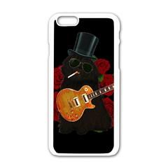 Puli dog - Slash  Apple iPhone 6/6S White Enamel Case