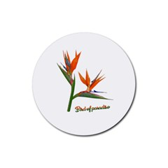 Bird Of Paradise Rubber Round Coaster (4 pack)