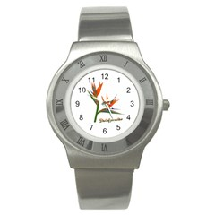 Bird Of Paradise Stainless Steel Watch