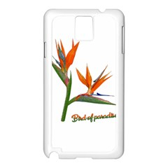 Bird Of Paradise Samsung Galaxy Note 3 N9005 Case (White)