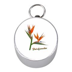 Bird Of Paradise Mini Silver Compasses