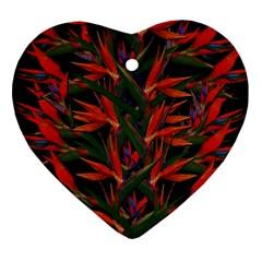 Bird Of Paradise Ornament (Heart)