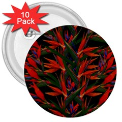 Bird Of Paradise 3  Buttons (10 pack)