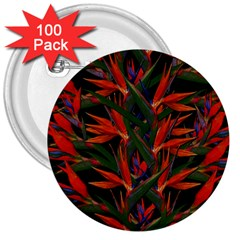 Bird Of Paradise 3  Buttons (100 pack)