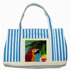 Ara Striped Blue Tote Bag