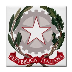 Emblem of Italy Tile Coasters