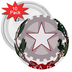 Emblem of Italy 3  Buttons (10 pack)