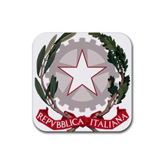Emblem of Italy Rubber Square Coaster (4 pack)