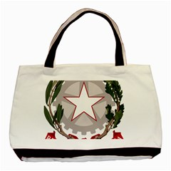Emblem of Italy Basic Tote Bag (Two Sides)