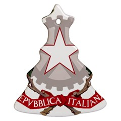 Emblem of Italy Christmas Tree Ornament (Two Sides)