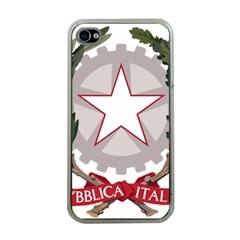 Emblem of Italy Apple iPhone 4 Case (Clear)