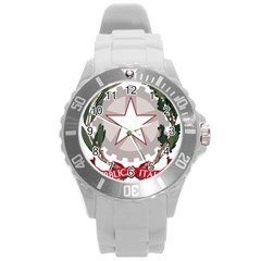 Emblem of Italy Round Plastic Sport Watch (L)
