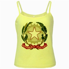 Emblem of Italy Yellow Spaghetti Tank