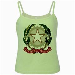 Emblem of Italy Green Spaghetti Tank