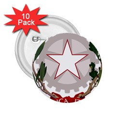 Emblem of Italy 2.25  Buttons (10 pack)