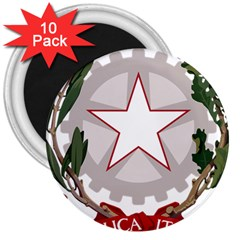 Emblem of Italy 3  Magnets (10 pack)