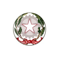 Emblem of Italy Hat Clip Ball Marker (4 pack)