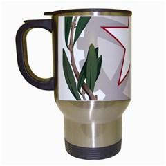 Emblem of Italy Travel Mugs (White)