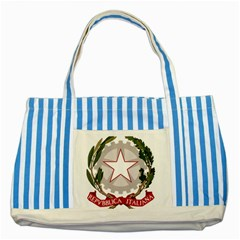 Emblem of Italy Striped Blue Tote Bag