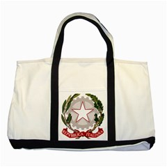 Emblem of Italy Two Tone Tote Bag