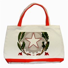 Emblem of Italy Classic Tote Bag (Red)