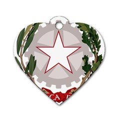 Emblem of Italy Dog Tag Heart (Two Sides)