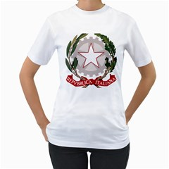 Emblem of Italy Women s T-Shirt (White)