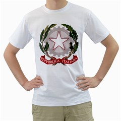 Emblem of Italy Men s T-Shirt (White)
