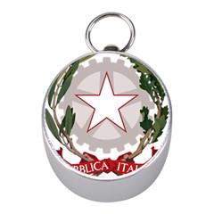 Emblem of Italy Mini Silver Compasses
