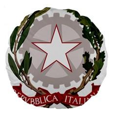 Emblem of Italy Large 18  Premium Flano Round Cushions