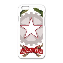 Emblem of Italy Apple iPhone 6/6S White Enamel Case