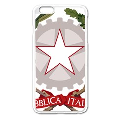Emblem of Italy Apple iPhone 6 Plus/6S Plus Enamel White Case