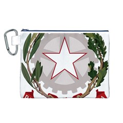 Emblem of Italy Canvas Cosmetic Bag (L)