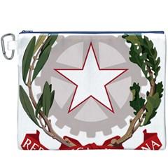 Emblem of Italy Canvas Cosmetic Bag (XXXL)