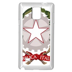 Emblem of Italy Samsung Galaxy Note 4 Case (White)