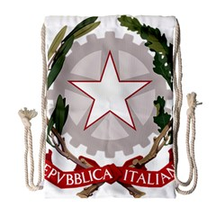 Emblem of Italy Drawstring Bag (Large)