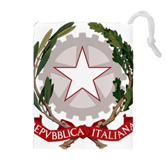 Emblem of Italy Drawstring Pouches (Extra Large)