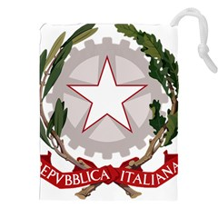 Emblem of Italy Drawstring Pouches (XXL)