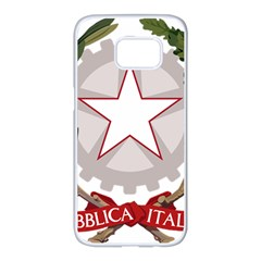 Emblem of Italy Samsung Galaxy S7 edge White Seamless Case