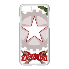 Emblem of Italy Apple iPhone 7 Seamless Case (White)